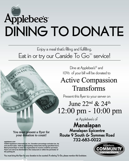 Dining to Donate Flyer